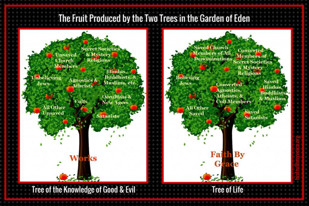 The Fruit Produced by the Two Trees in the Garden of Eden