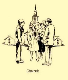 Church Members Greeting One Another