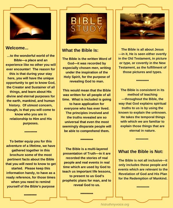Bible Study Brochure
