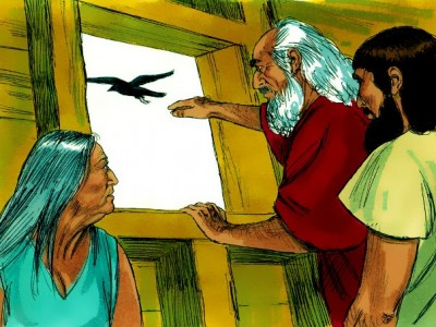 Noah Releasing the Raven