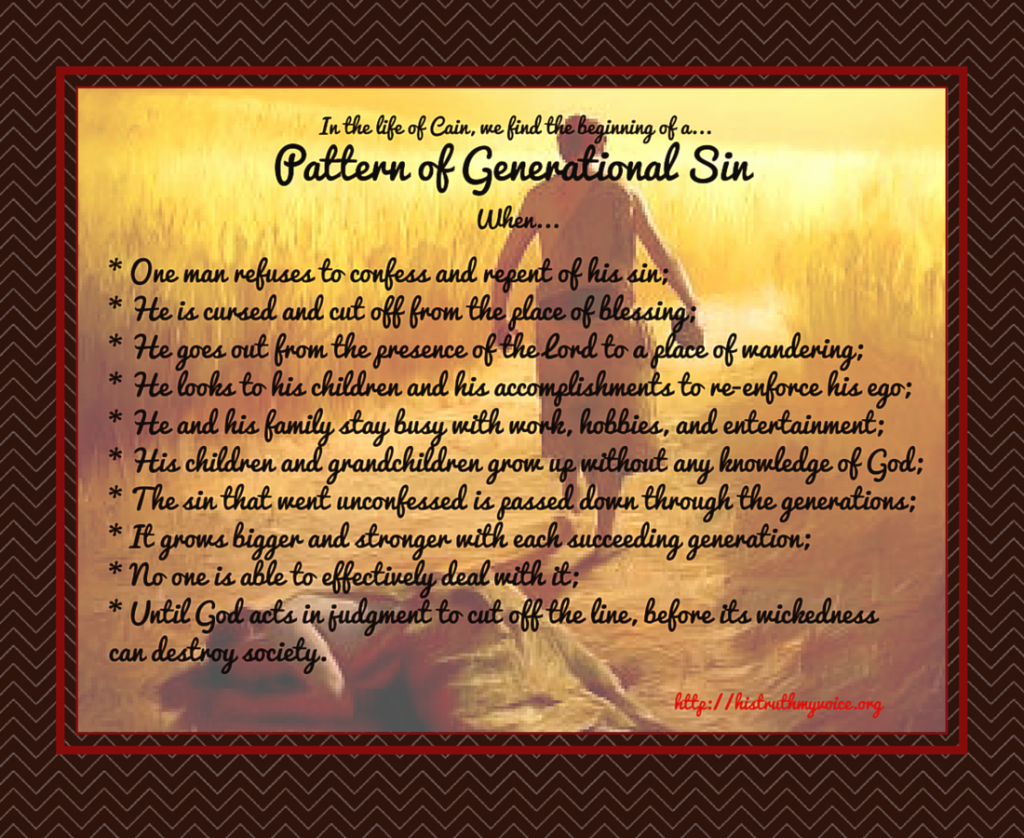 Patterns of Generational Sin