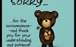 So Sorry…