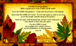 Let's Give Thanks…